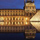 Louvre Reflections by Elena J