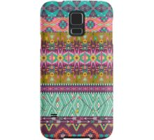 Seamless colorful aztec pattern with birds and arrow Samsung Galaxy Case/Skin