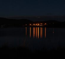 Night Reflections 2 - Lake Wallace, Wallerawang by Deborah McGrath