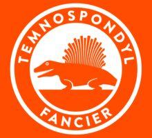 Temnospondyl Fancier Tee (White on dark) Kids Clothes