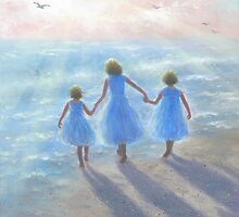 IMAGINE THREE BEACH SISTERS by VickieWade