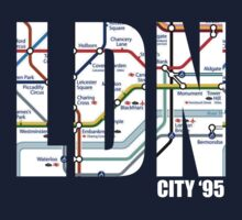 London LDN Underground Map by NinetyFive95