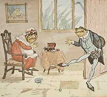 An illustration from 'A Frog He Would A-Wooing Go' by Bridgeman Art Library