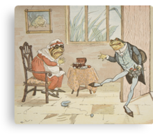 An illustration from 'A Frog He Would A-Wooing Go' Canvas Print
