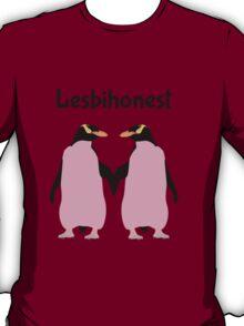 Lesbian Penguins   LESBIHONEST T-Shirt