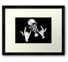 Devil Horns Framed Print