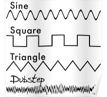 Sine, Square, Triangle...DUBSTEP! Poster