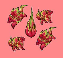 Dragon Fruit Dragons by 3d-dragon