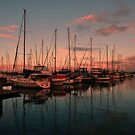 Pre Sunrise, Scarborough Boat Harbour. Brisbane, Qld, Australia. by Ralph de Zilva