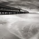 Walton Pier Silly O'Clock BW by Andy Freer