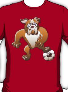 Bulldog Preparing to Kick a Soccer Ball T-Shirt