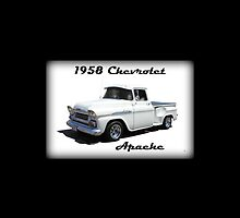 1958 Chevrolet Apache iPhone Case by Betty Northcutt