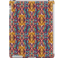 Hipster seamless aztec pattern with geometric elements and typographic text iPad Case/Skin