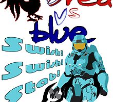 Red Vs Blue by FloppyNovice