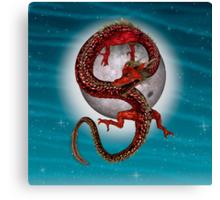 Eastern Red Dragon Canvas Print