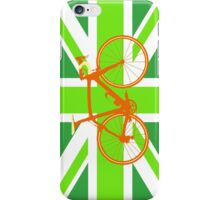 Bike Flag United Kingdom (Green) (Big - Highlight) iPhone Case/Skin