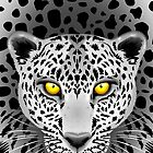 White Leopard with Yellow Eyes by BluedarkArt
