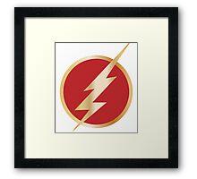 The Flash Logo 2014 Tv Show Framed Print