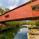 Narrows Covered Bridge, Indiana by Kenneth Keifer