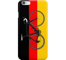 Bike Flag Germany (Big - Highlight) iPhone Case/Skin