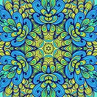 Blue mandala by Patternalized