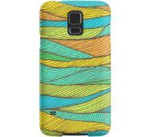 Striped bright hand drawn pattern Samsung Galaxy Case/Skin