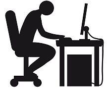 Computer desk nerd by Style-O-Mat