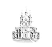 Smolny Cathedral Photographic Print