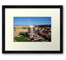 Cley Windmill - Unusual Aeriel shot Framed Print