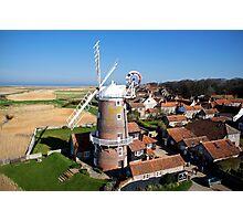 Cley Windmill - Unusual Aeriel shot Photographic Print