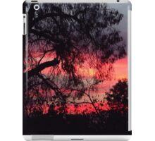 Sunset behind desolate trees 2 iPad Case/Skin