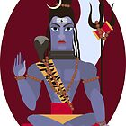 illustration of Hindu deity lord Shiva by OlgaBerlet
