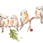Six Little Birds by Maree  Clarkson
