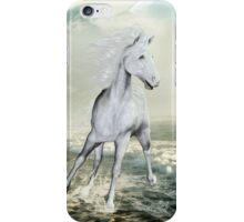 White Horses On The Beach iPhone Case/Skin