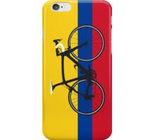 Bike Flag Colombia (Big - Highlight) iPhone Case/Skin