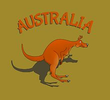 Cartoon Kangaroo | Australia by piedaydesigns