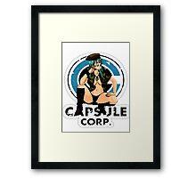 Bulma capsule corp Framed Print