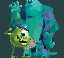 Mike & Sulley Monsters Inc by themusedesigner