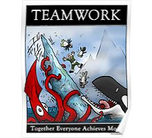 Teamwork Inspirational Poster Poster