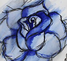 The Blue Rose by LASartsdesigns