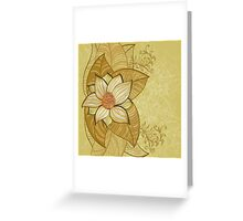 Vintage magnolia flower Greeting Card