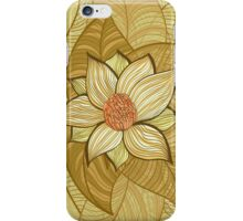 Vintage magnolia flower iPhone Case/Skin