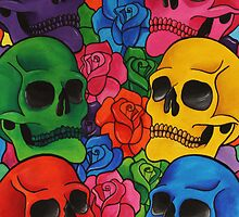 Rainbow Skull by LASartsdesigns