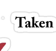 Single/taken/mentally dating Sebastian Stan design :) Sticker