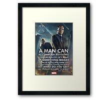 Marvel Agents of SHIELD Inspirational Poster Framed Print