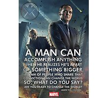 Marvel Agents of SHIELD Inspirational Poster Photographic Print