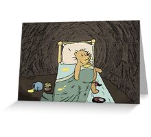 Pooh the Glutton Greeting Card