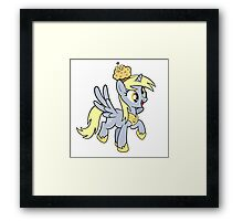 Derpy the Muffin Queen Tshirt Framed Print