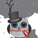 Top Hat Owl - Snow by Adamzworld