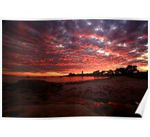 the next day, waubs bay. bicheno, tasmania Poster